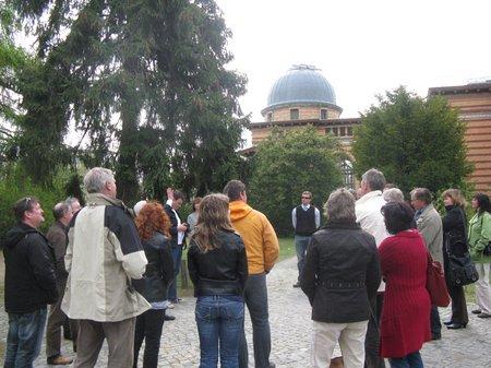 Besichtigung des Areals auf dem Potsdamer Telegraphenberg