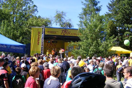 Etappenparty im Klostergarten Heiligengrabe zur Tour-de-Prignitz 2010