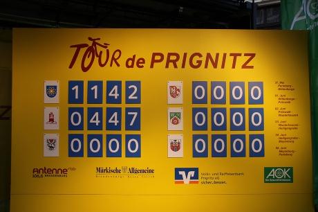 Punktetafel Tour-de-Prignitz 2010 - Stand nach der 1. Etappe von Perleberg nach Wittenberge