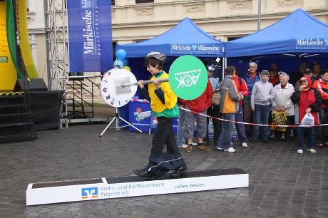 Spiel auf der 1. Etappe der Tour-de-Prignitz 2010 von Perleberg nach Wittenberge