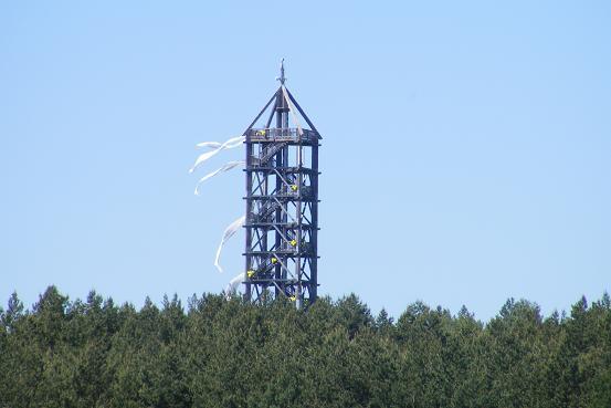 Turm Blumenthal geschmückt zur Tour