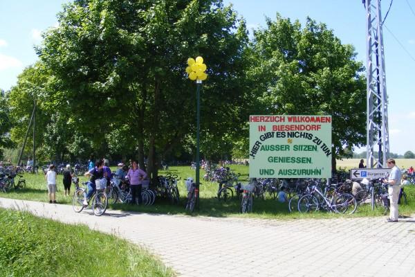 Willkommensgruss zur Mittagspause in Blesendorf am 4. Juni 2010
