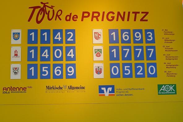 Zwischenstand nach der 5. Etappe 2010 - Heiligengrabe führt die Punktewertung an