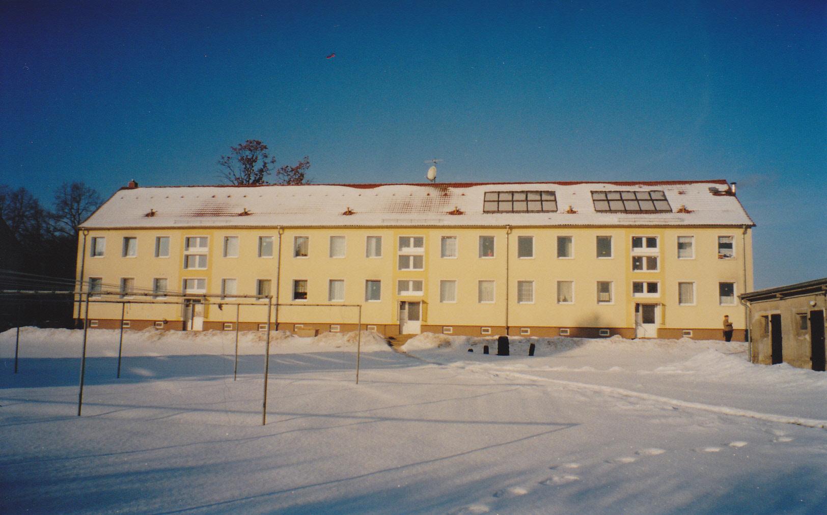 Immobilienangebot Gemeinde Heiligengrabe Verkaufsobjekt 12 Wohneinheiten Mehrfamilienhaus Gemeindeteil Horst hintere Ansicht 2011