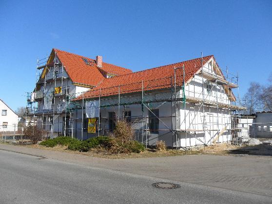 Baustelle Dorfgemeinschaftshaus Blumenthal - Gemeinde Heiligengrabe - März 2011