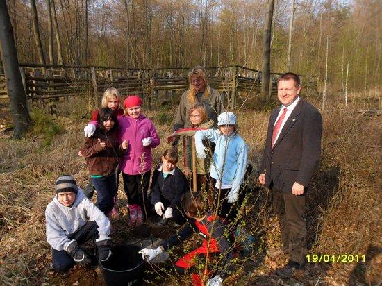 Bürgermeister-Gemeinde-Heiligengrabe-Holger-Kippenhahn-bei-Baumpflanzung-Elsbeere-Baum-des-Jahres-2011-am-Naturlehrpfad