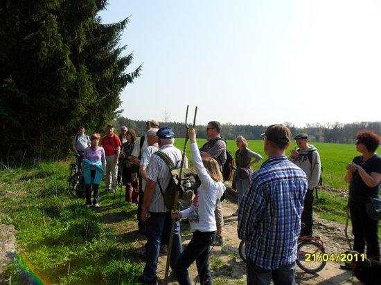 Rast mit Erläuterungen - Pilgern auf dem Annenpfad Gründonnerstag 2011
