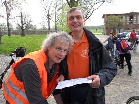 Anradeln 2012 - Günter Lutz und Ulrich Nehls