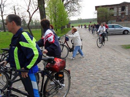 Anradeln 2012 - Wittstocker kommen am Kloster an