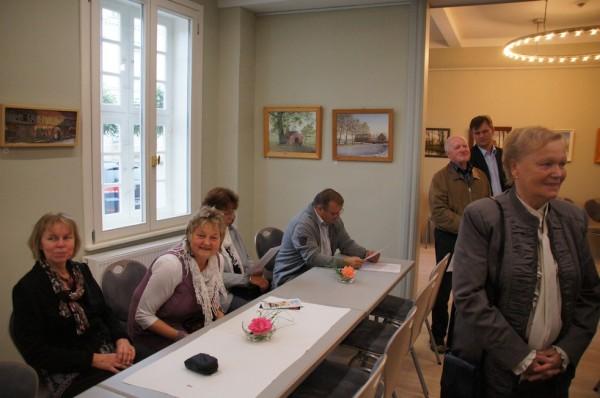 Besucher Ausstellungseröffnung im Herbst´schen Haus Wusterhausen/Dosse am Marktplatz