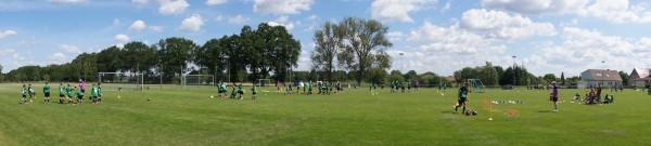 FussballCamp / Trainingspaltz Grabow im Panorama-Überblick