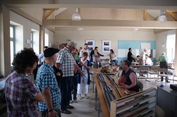 Modellbahnausstellung-125-jahre-Bahnstrecke-in-Blumenthal-Mark-Dorfgemeinschaftshaus-Buergerhaus