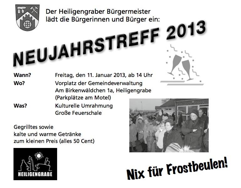 Neujahrstreff des Heiligengraber Bürgermeisters Holger Kippenhahn im Jahr 2013