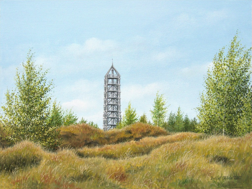 Aussichtsturm Blumenthal Heide - Bild vom Kunstmaler Detlef Glöde aus Blumenthal