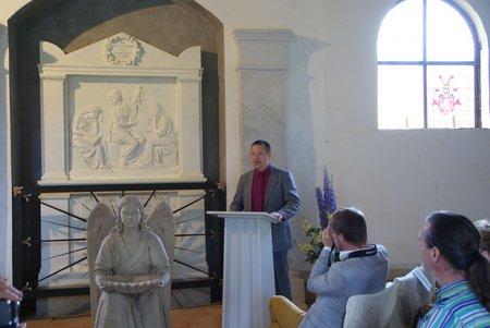 Gutskapelle Horst - Übergabe restauriertes Grabmal Blumenthal 3