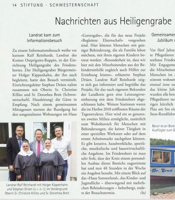 Friedenshort Heiligengrabe - Besuch Landrat OPR und Bürgermeister - 2