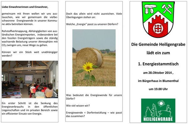 Flyer Energiestammtisch Seite 1