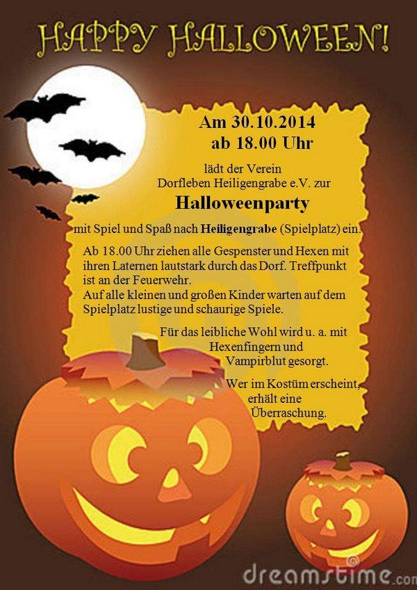 Halloween-Dorfverein-Heiligengrabe-2014-plakat