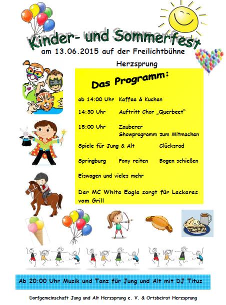 Kinder- und Sommerfest Freilichtbuehne Herzsprung 2015