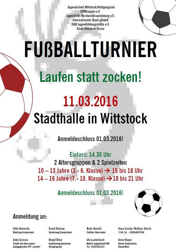 Flyer Fußballturnier u. Anmeldung 11.03