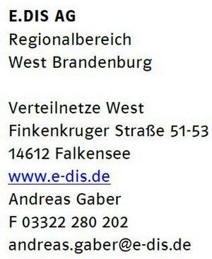 Heiligengrabe Abschaltzeiten-Kontakt